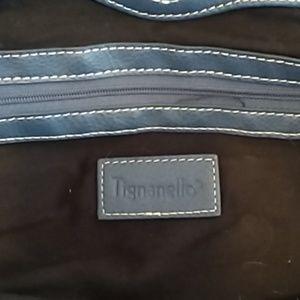 Tignanello leather blue purse